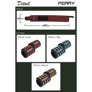 (フェリー) FERRY リストラップ ウエイトトレーニング 手首固定 60cm(2枚組) ブラック/ブルー tywith
