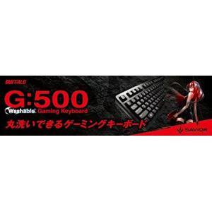 BUFFALO USB接続 有線ゲーミングキーボード 丸洗い ブラック BSKBUG500BK|tywith