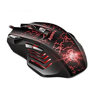 マウス ゲーミングマウス メカニカル マウス ゲーム 7ボタン LED 有線 XP Win7 Win8 VISTA Win10 光学式 US|tywith