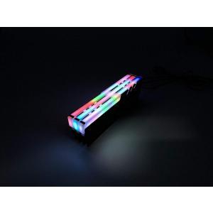 EASYDIY PC用 RAM 冷却 メモリクーラーヒートシンク RGB LEDライト効果-黒い 2本1セット|tywith