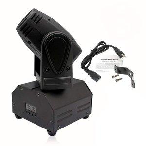 U`King LEDステージライト 小型ムービングヘッド 20W RGBW ムービングライト スポットライト 11/13 チャンネル DMX tywith