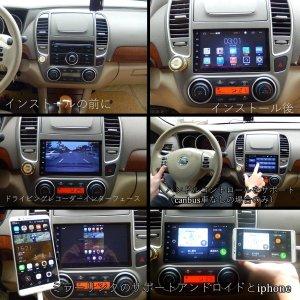 Henhaoro アンドロイド 6.0 カーステレオ 車 ナビ 2din マルチメディア プレーヤー 7インチ クアッドコア GPS Blu|tywith