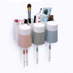 MECO 歯ブラシスタンド 歯ブラシホルダー 壁掛け式 収納ケース 清潔 健康 防塵 衛生 家族用 多機能収納ケース 置き型 収納ホルダー|tywith
