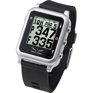 イーグルビジョン ウォッチ4 ブラック(EAGLE VISION watch4) 防水仕様 腕時計型 GPSゴルフナビ 距離測定器日本正規品|tywith