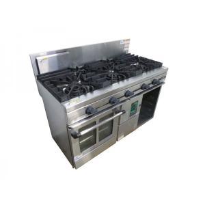 5口 オーブン付 ガステーブル コンロ LPガス TSGC-1232 タニコー W1200XD600XH800mm 中古 FE0110