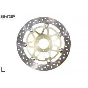 ホンダ CB400FOUR SF VTEC CB400 Revo CBR400RR RVF VFR400R CBR600F CBR900RR等 ディスクブレーキローター ゴールド 左側用|u-cp3