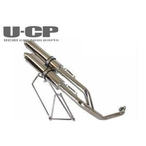 スズキ スカイウェイブ250(CJ44/CJ45)ステンレスツインテールアップマフラー U-CP ユーシーピー u-cp3