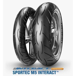 METZELER メッツラー SPORTEC スポルテック M5 INTERACT 120/60ZR17 M/C (55W) TL 160/60ZR17 M/C (69W) TL タイヤ 前後セット 送料無料|u-cp3