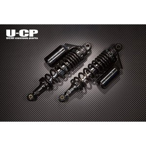 U-CP SUZUKI スズキ イナズマ400 リアショック サスペンション タンク付 ブラック×ブラック u-cp3