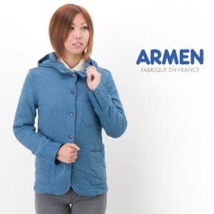 ARMEN アーメン レディース バーティカル フードジャケット(NAM1403A)(BASIC)|u-oak