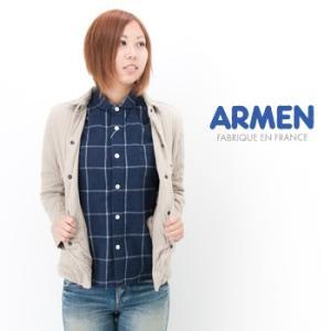 ARMEN アーメン レディース バーティカルシャツカラージャケット(NAM0202A)(BASIC)|u-oak