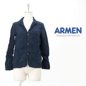 ARMEN アーメン レディース LINEN WORK JACKET(NAM1452LP)(SS)|u-oak