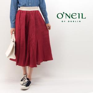 O'NEIL OF DUBLIN オネイル/オニールオブダブリン レディース LINEN SWING SKIRT(801)(BASIC)|u-oak