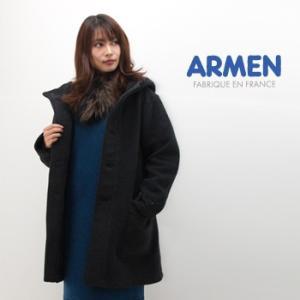 ARMEN アーメン レディース ダブルフェイスフードコート(PNAM1652W)(BASIC)|u-oak
