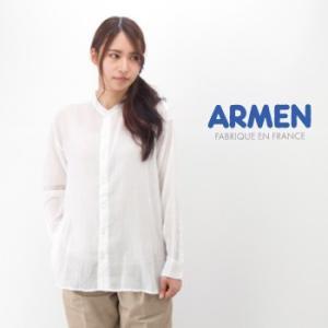 ARMEN アーメン レディース ユーティリティーバンドカラーシャツ(INAM1702)(2017SS)|u-oak