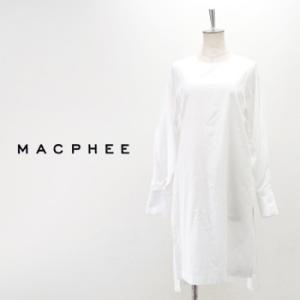 (SALE 40%OFF)TOMORROWLAND MACPHEE マカフィー レディース コットンブロード ワイドアームチュニックシャツ(12-06-74-06001HY)(FW)(F-4)(返品交換不可)|u-oak