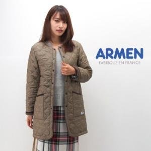 ARMEN アーメン レディース ナイロンキルト ノーカラーコート(NAM1651)(BASIC)|u-oak