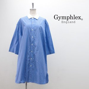 (SALE 30%OFF)Gymphlex ジムフレックス レディース マルチストライプシャツワンピース(J-1311MUP)(2018FW)(F-3)(返品交換不可)|u-oak