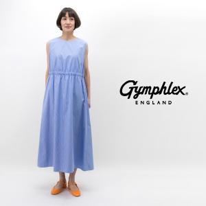 Gymphlex ジムフレックス レディース MULTI STRIPE ノースリーブワンピース(J-1361MUP)(2019SS)|u-oak