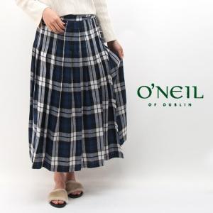O'NEIL OF DUBLIN オネイル/オニールオブダブリン レディース ローウエスト プリーツラップスカート(NOD0901)(BASIC)|u-oak