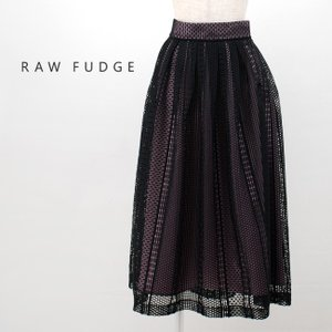 (SALE 50%OFF)RAW FUDGE ローファッジ レディース メッシュレース配色スカート(769034)(2019SS)(返品交換不可)|u-oak
