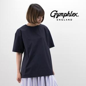 Gymphlex ジムフレックス レディース コットンタイプライタークロスクルーネックカットソー(J-1345SUV)(2019SS)|u-oak