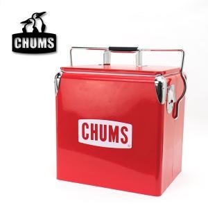 CHUMSより、スチールクーラーボックスが届きました! 真っ赤なボディにCHUMSロゴが映える、50...