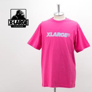 (SALE 30%OFF)XLARGE エクストララージ メンズ クロコダイル スタンダードロゴTシャツ(01192111)(2019SS)(F-3)(返品交換不可) u-oak