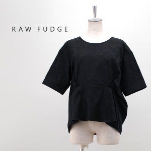 (SALE 30%OFF)RAW FUDGE ローファッジ レディース フロントタックジャガードブラウス(769146)(2019SS)(返品交換不可)|u-oak