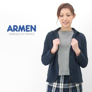ARMEN アーメン レディース コットンキルトシャツカラージャケット(NAM0202B)(BASIC)|u-oak