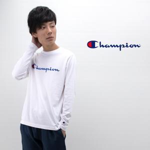 Champion チャンピオン メンズ スプリクトロゴロングスリーブTシャツ(C3-Q401)(2019FW)|u-oak