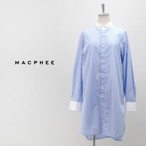 (SALE 40%OFF)TOMORROWLAND MACPHEE マカフィー レディース コットン タキシードシャツ(12-01-94-01101HN)(2019FW)(F-2)(返品交換不可)|u-oak