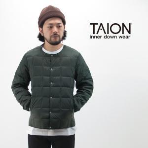 (SALE 30%OFF)TAION タイオン メンズ クルーネックインナーダウンジャケット(TAI...