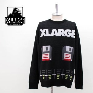 (SALE 50%OFF)XLARGE エクストララージ メンズ アナログ ジャカードセーター(01194303)(2019FW)(返品交換不可) u-oak