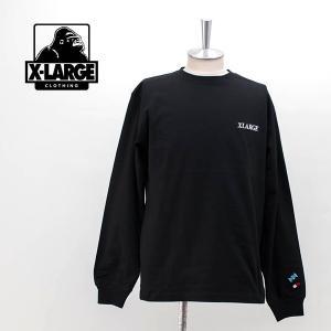 XLARGE エクストララージ メンズ アディクト ロゴ エンブロイダリー L/S TEE(01194107)(2019FW) u-oak