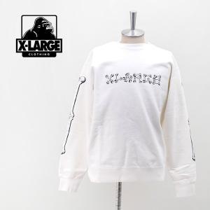 XLARGE エクストララージ メンズ ボーンロゴ クルーネックスウェット(01194206)(2019FW) u-oak