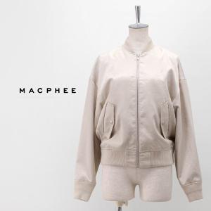TOMORROWLAND MACPHEE マカフィー レディース ヴィンテージサテン ジップアップブルゾン(12-07-01-07030HN)(2020SS)|u-oak