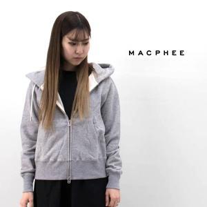 TOMORROWLAND MACPHEE マカフィー レディース コットンジャージー ジップアップパーカー(12-03-94-03104TN)(2020SS)|u-oak
