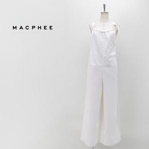 TOMORROWLAND MACPHEE マカフィー レディース コットンライトデニム ギャザージャンプスーツ(12-06-01-06033HN)(2020SS)|u-oak