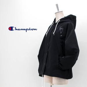Champion チャンピオン レディース ウィメンズ フードスナップジャケット(CW-R601)(2020SS) u-oak 02