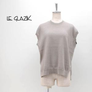 Le glazik ル グラジック レディース ラミーコットン PLATING ニットベスト(JL-4322)(2020SS)|u-oak