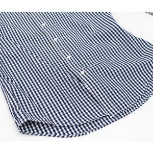 Gymphlex ジムフレックス メンズ ボタンダウン ストライプ/ギンガムチェック シャツ(J-0643TSS)(BASIC)|u-oak|11