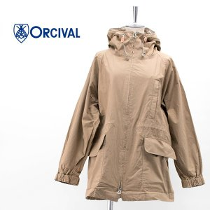 ORCIVAL オーシバル レディース コットンポプリン フードロングジャケット(RC-8053DCP)(2020SS) u-oak