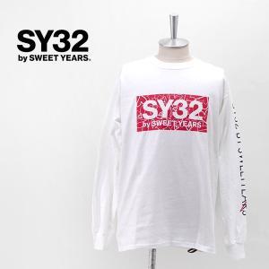 SY32 by SWEET YEARS エスワイサーティトゥバイスィートイヤーズ メンズ ハートボックスロゴ L/S TEE(10015J)(2020SS) u-oak