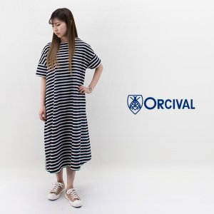 ORCIVAL オーシバル レディース コットンモヨン 半袖ワンピース(B236)(2020SS) u-oak