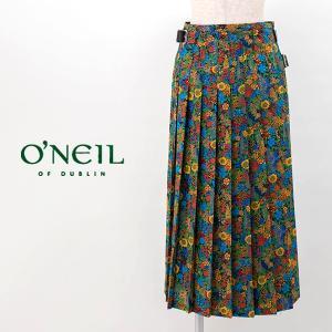 O'NEIL OF DUBLIN オネイル/オニールオブダブリン レディース ローウエスト プリーツラップスカート リバティープリント(NOD1901LTB)(2020SS)|u-oak