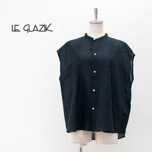Le glazik ル グラジック レディース 160's RAMIE ノースリーブブラウス(JL-3699RAM)(2020SS)|u-oak