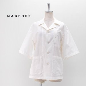(SALE 40%OFF)TOMORROWLAND MACPHEE マカフィー レディース オーバーサイズド キャンプシャツ(12-01-02-01401HN)(2020SS)(返品交換不可) u-oak