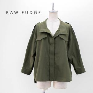 (SALE 40%OFF)RAW FUDGE ローファッジ レディース リネンブレンドフラップシャツ(760308)(2020SS)(返品交換不可)|u-oak