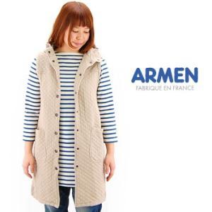 ARMEN アーメン レディース ノースリーブフーデッドコート(NAM1207)(BASIC)|u-oak